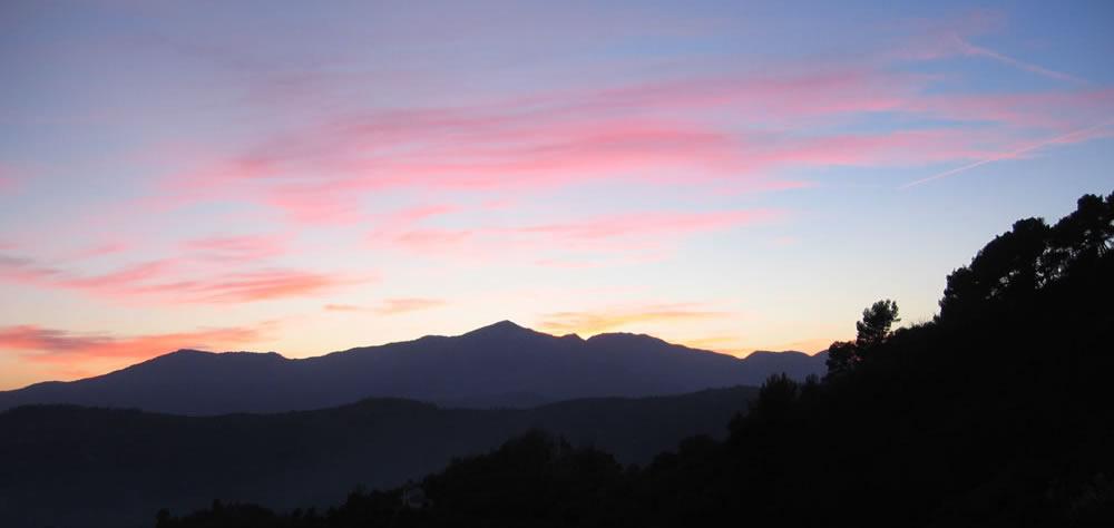 tramonto paesaggio liguria
